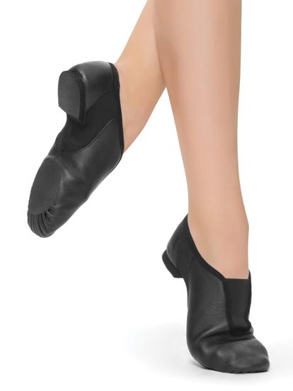 Stretch Slip-On Leather Jazz Shoes